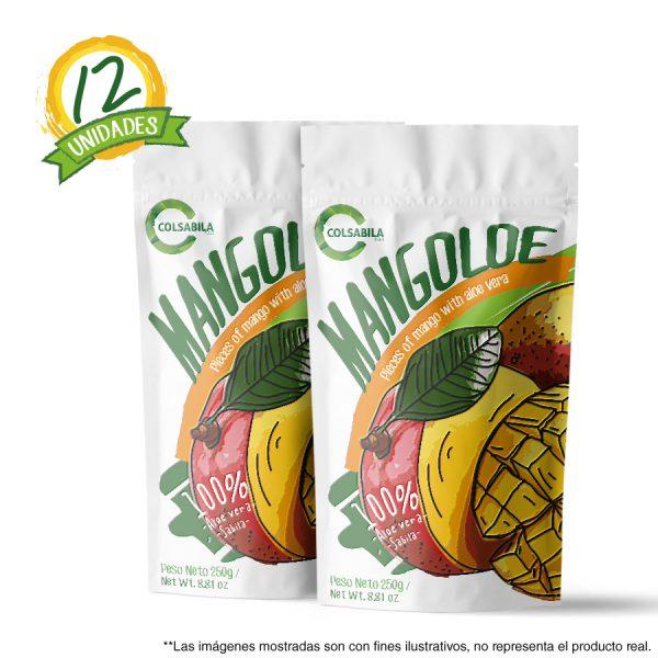 Aloe Pulpas Mango X12 Unidades