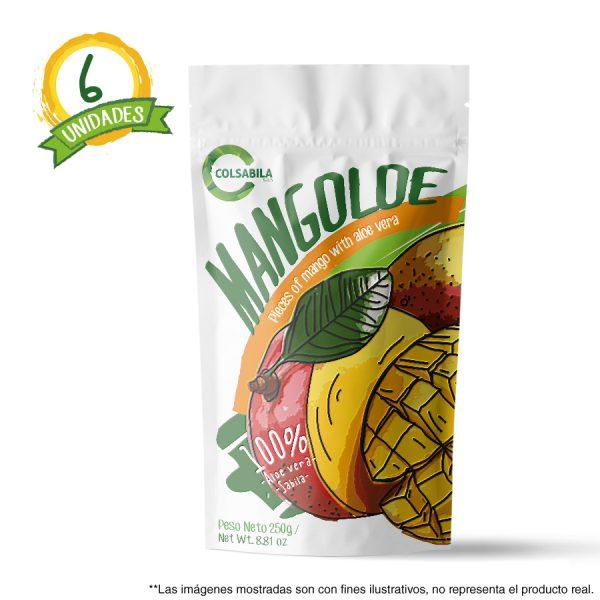 Aloe Pulpas Mango X6 Unidades