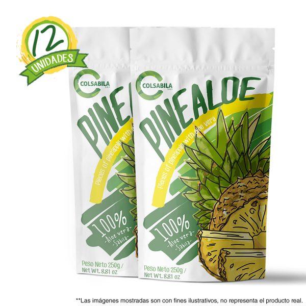 Aloe Pulpas Piña X12 Unidades