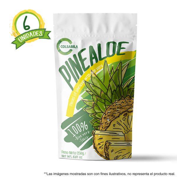 Aloe Pulpas Piña X6 Unidades